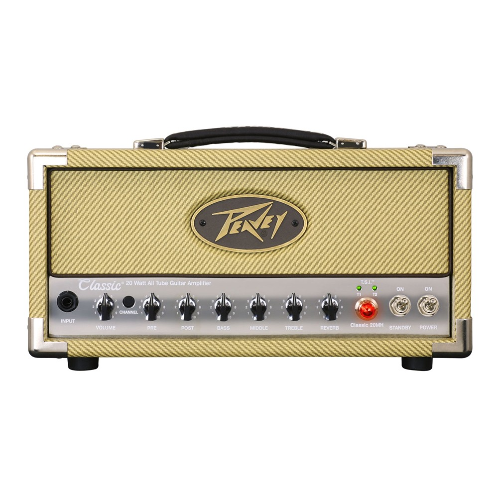 Peavey Classic 20w Micro Head Tube Guitar Amplifier With 2 Power El34 Channels 3 Band Eq And