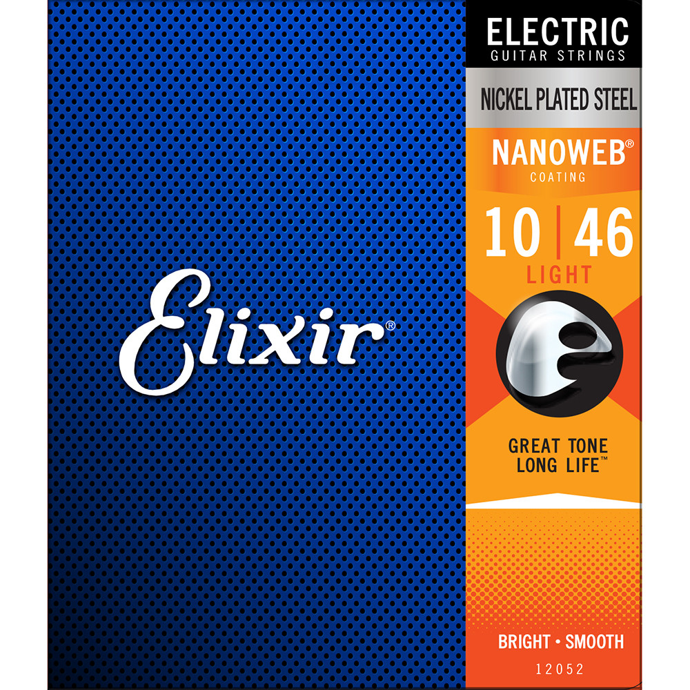 Elixir Light Nanoweb Electric Guitar Strings 12052 1 Set Pack 10-46