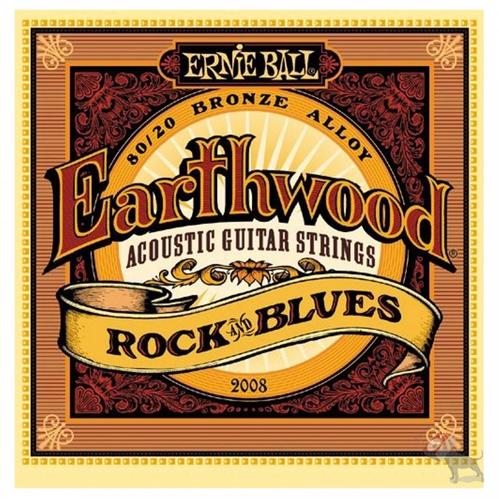 ernie ball 2008 earthwood 80 20 bronze rock and blues acoustic guitar strings 10 52. Black Bedroom Furniture Sets. Home Design Ideas