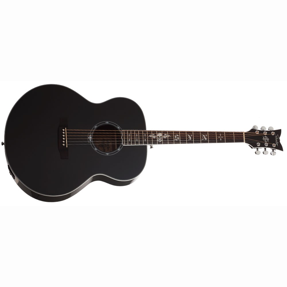 schecter syn j synyster gates signature acoustic guitar gloss black. Black Bedroom Furniture Sets. Home Design Ideas